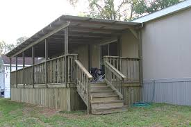 mobile home decks wooden decking railings stairs in how to build a throughout wood for homes ideas 15
