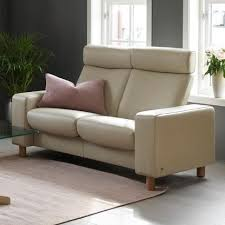 Stressless PauseHighBack Reclining Loveseat  High Back Loveseat6