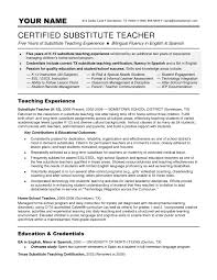 Substitute Teacher Duties Resume Elegant Az Teacher Resume Sales