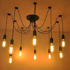 edison pendant lighting. 10 lights edison retro spider chandelier pendant light 110220v lighting o