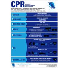 Pool Cpr Resuscitation Sign Drsabc Spa Regulation Safety Chart