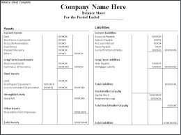 Microsoft Excel Balance Sheet Templates Template For Balance Sheet Wsopfreechips Co
