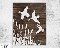 wooden ducks sign 11 x14 home decor outdoors hunting home