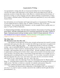 cover letter example of an argument essay example of writing an sample argumentative