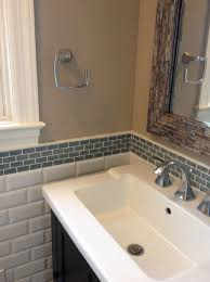bathroom exciting tile backsplash updated diy with glass in home designs beautiful