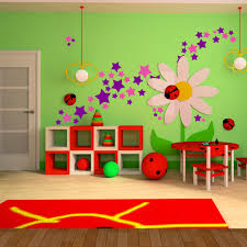 Ladybug Bedroom Decor Kids Room Wall Decal Ideas For Wall Decorations Purple Pink