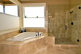 Custom walk-in showers are often paired with a separate bathtub.
