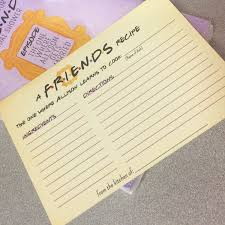 Friends Bridal Shower Recipe Card Bridal Shower Recipe Card Friends Tv Show Trivia Bridal Shower Game Printable Friends Trivia Quiz Bridal Shower Game The One With All The Weddings