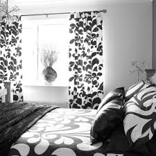 Brilliant Black And White Curtains Panel Georgious For Inspiration