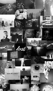 Black And White Aesthetic Wallpaper Collage