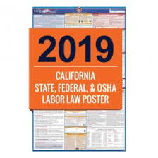 California Labor Law Sick Doctors Note 2019 California Labor Law Poster All In One Laminated Poster