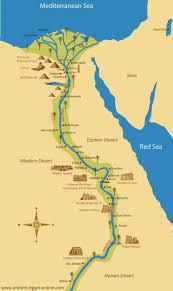 مصر القديمة نهر النيل خريطة - خريطة مصر القديمة نهر النيل (شمال أفريقيا -  أفريقيا)