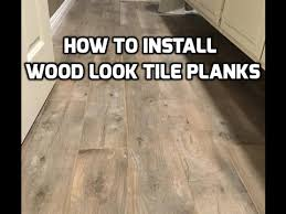 install wood look tile planks on ditra with qep leveling system