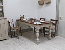 image of oak farmhouse kitchen table