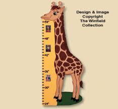 Wood Patterns Giraffe Growth Chart Woodcrafting Plan