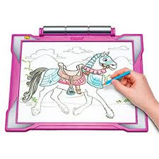 Crayola-Light-up-Tracing-Pad. This tracing board would be a perfect gift for five year old girl. The Best Toys and Gift Ideas 5 Year Old Girls I Uviloon.com
