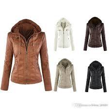 motorcycle overcoats plus size 7xl faux leather jacket women autumn winter 2018 long sleeve hooded pu jacket coats flight jackets custom leather jackets