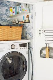Laundry Room_Emily Henderson_Big Wave Wallpaper_Blue_LG_Detail_7