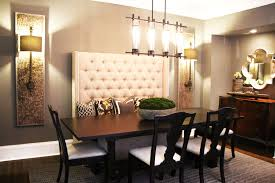 dining room bench with high back dining room decor ideas