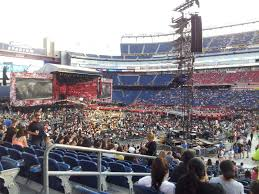 One Direction Buffalo Seating Chart Gillette Stadium Section 107 Row 21 Seat 17 One Direction