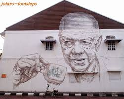 cultural wall art street ipoh