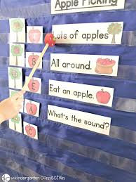 Apple Tree Pocket Chart Back To School Pocket Chart Activities For Pre K Kindergarten