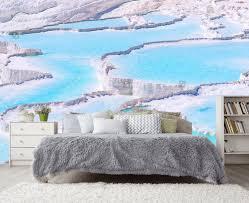 Blaue Pamukkale Kinderzimmer Türkei Schlafzimmer Tapete Etsy