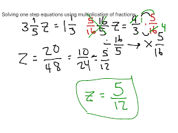 solving one step equations with fractions jennarocca