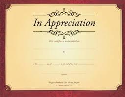 Certificates Of Appreciation In Appreciation 1 Thessalonians 1 2 Gold Foil Embossed Certificates 6