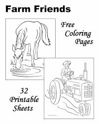 We like to laminate them since we use them over and over again. Farm Coloring Pages
