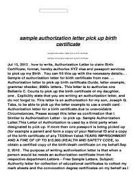 Editable Sample Authorization Letter Granting Permission Fillable