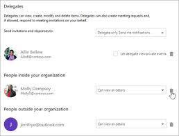 Calendar delegation in Outlook on the web - Outlook
