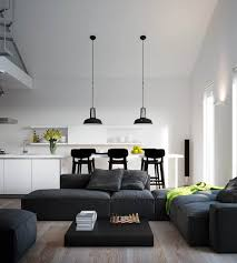 Open Living Room Decorating Living Room White And Black Living Room Design With Arch Floor