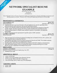 Network Specialist Resume 39 Best Resume Prep Images Sample Resume Manager Resume Resume