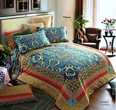 egyptian cotton duvet cover king cotton vintage blue satin luxury bedding set king queen size duvet