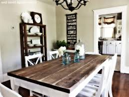 Rustic White Kitchen Table Distressed Dining Room Table Ana White Rustic Farmhouse Table