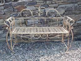 french garden bench antique metal