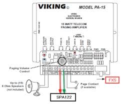 how do i configure a viking pa 15 paging system to work 8x8 connect the speakers to pin 1 and pin 2 on the pa 15