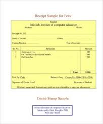 fee receipt format receipt template pdf template business