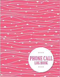 Phone Message Log Book Phone Call Log Book 100 Pages Monitor Phone Calls And Voice