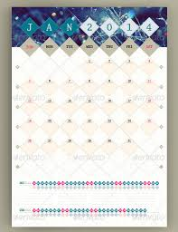 Small Picture 40 PSD AI InDesign Calendar Templates 2014 Wakaboom