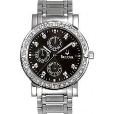 bulova 960000 mens diamonds black watch 9 60e 05 watches from bulova bulova 960000 mens diamonds black watch