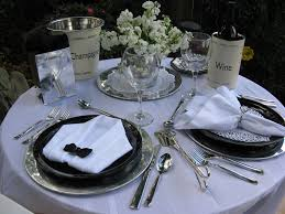 table settings two romantic