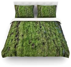susan sanders emerald moss green nature duvet cover cotton queen rustic