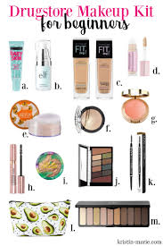 makeup kit for beginners on kristin marie infographic