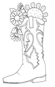Inspiring Boot Coloring Page Cowboy Hat Coloring Page Awesome Cowboy