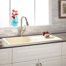 40 Manton Drop In Granite Composite Sink With Drain Board Beige