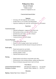 Construction Laborer Resume Sample Othello Essay Topics Shakespeare Online General Labor