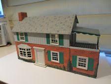 tin furniture. Vintage Marx Tin Litho Metal Suburban Colonial Dollhouse PLUS Furniture U0026 People