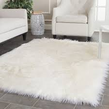 image of ikea white rug flatwoven rug in greenblue and white block pattern shown